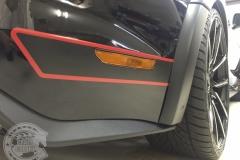 サイドデカール ストライプ ステッカー マットブラック レッドライン 東京