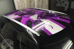ルーフ ユニオンジャック ステッカー レーシングストライプ 東京 カーラッピング R60